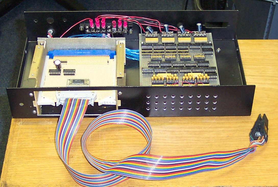 Comparator Pics Photos Electronic Circuit Board Showing Wires And Microchips I Built Clip Cables For Chips With 14 16 20 24 40 Pins As Well One Surface Mount Lt1137 Driver The Finished Unit Has Saved Me Many